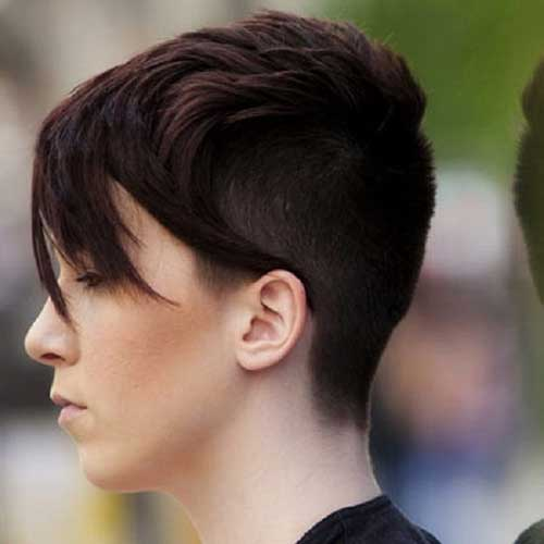 Short Shaved Womens Haircut