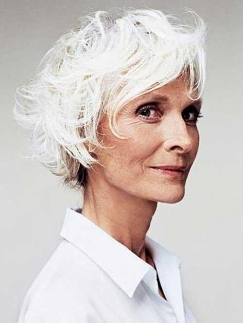 Hairstyles For Short Hair Over 70 : Short White Hair Styles for Women Over 70