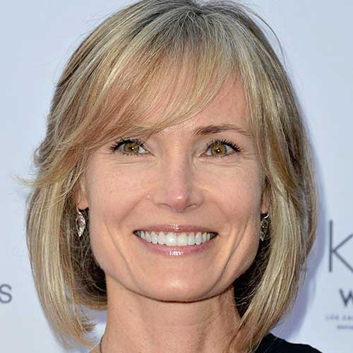 Short Haircuts with Bangs for Mature Women