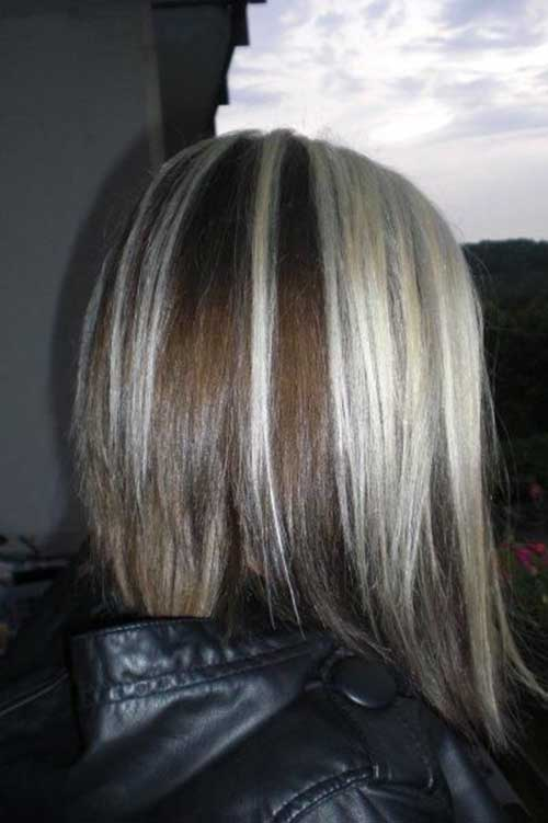Nice Short Hair with Colored Streaks