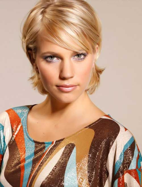 Short Hairstyles with Layered Bangs 2014