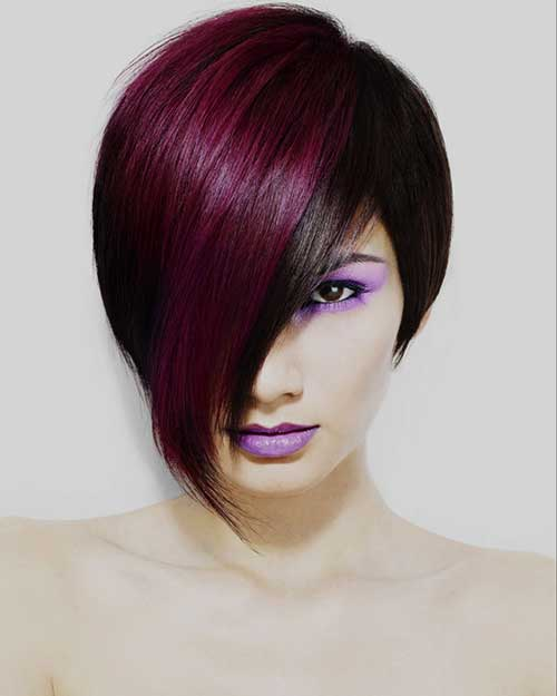 Short Hair with Two Tone Color