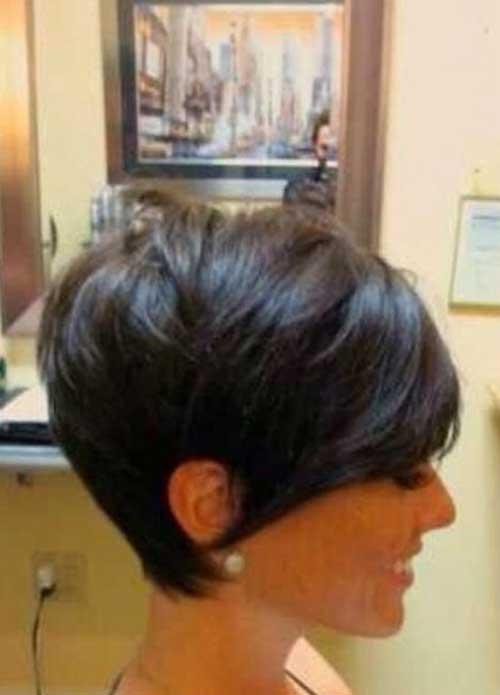 Short Angled Haircuts Brunette