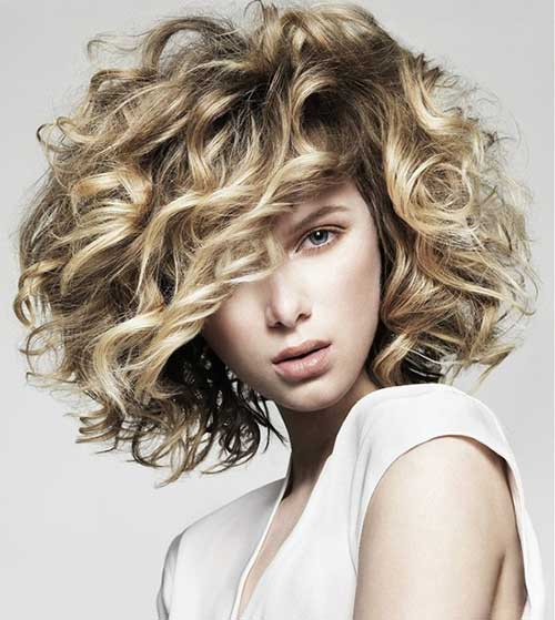 Short Hairstyles for Curly Frizzy Blonde Hair