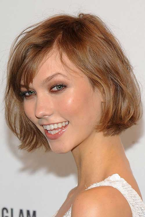 Karlie Kloss Short Layered Bangs