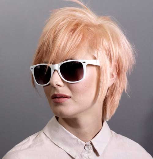 Short Strawberry Blonde Long Pixie Hairstyles