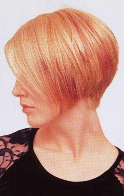 Short Strawberry Blonde Hairdo