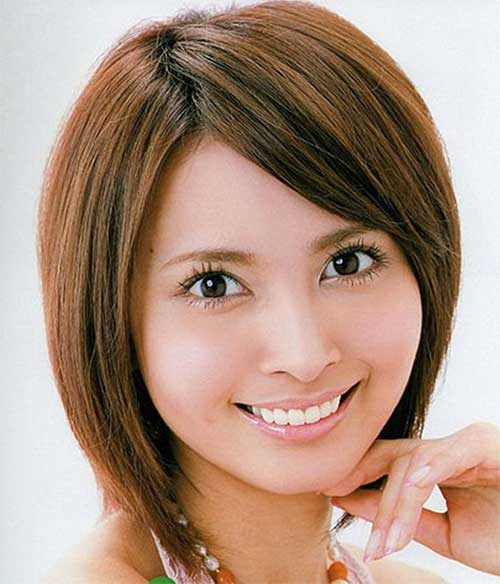 Side Bangs for Short Haired Round Face