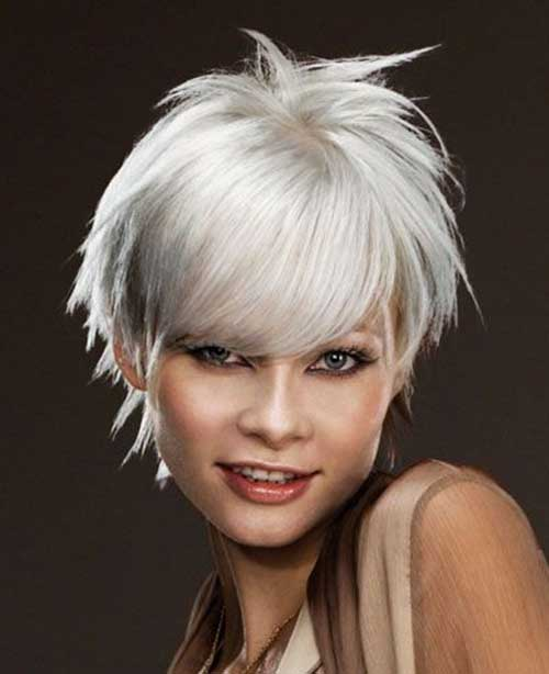 Silver Short Sassy Hairstyles