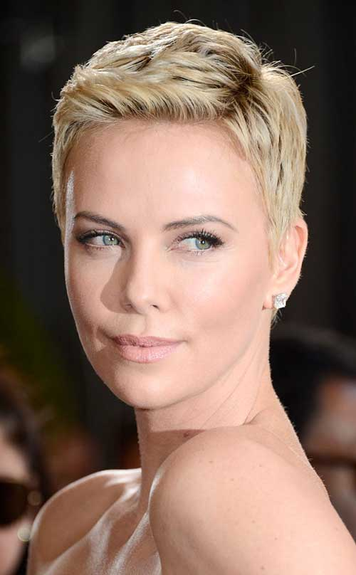 Charlize Theron Stars with Pixie Cuts