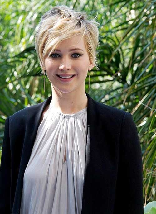 Jennifer Lawrence Stars with Pixie Haircuts