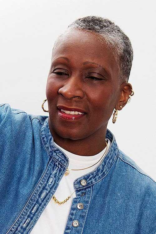 Best Super Short Hair for Black Women Over 50