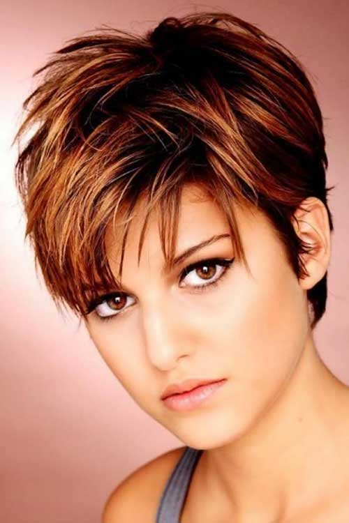 Thick Pixie Haircut with Sassy Bangs