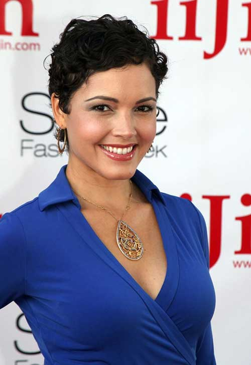Thin Curly Hair with Pixie Haircuts