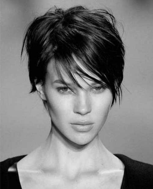 Thin Short Haircuts for Brunettes