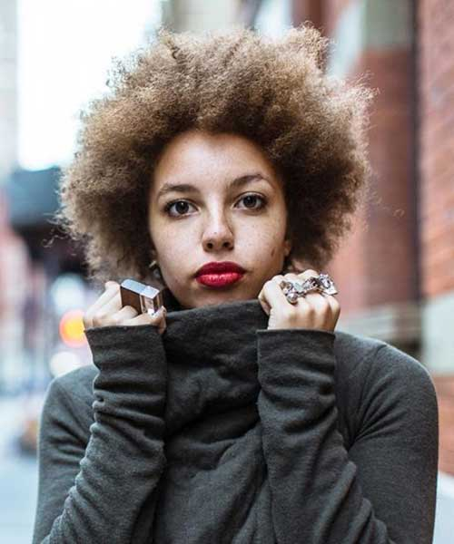 Best Trendy Short Curly Afro Hairstyles