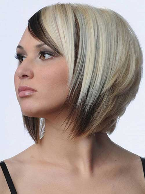 Best Two Tone Hair Color Short Hairstyles