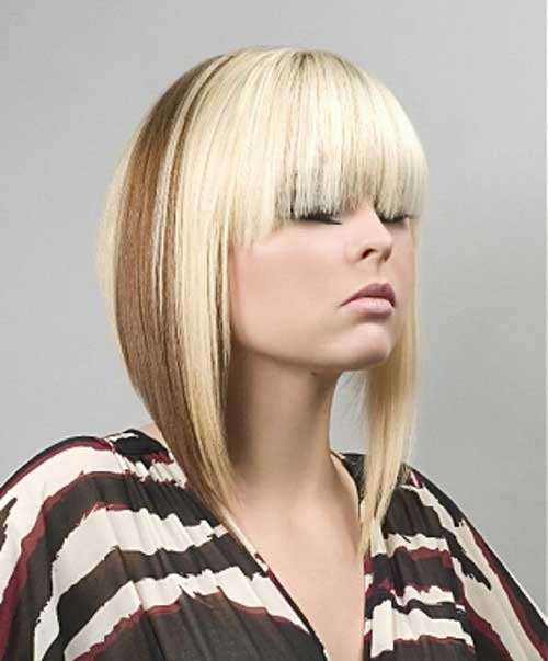 Two Tone Blonde Hair Color for Short Hair