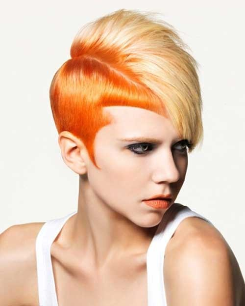 Women Two Tone Hair Color Ideas