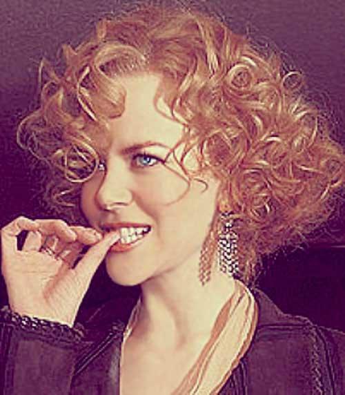 Asymmetrical Curly Short Hairstyles 2015