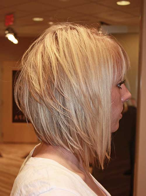 Blonde Cute Short Medium Graduated Haircuts