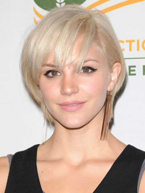 Blonde Pixie Cute Short Straight Hairstyles