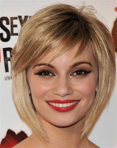 Bob Hairstyles with Thin Side Bangs