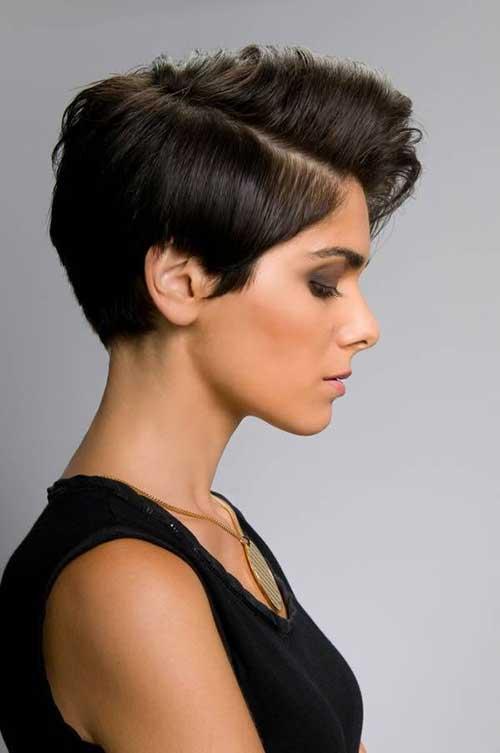 Brunette Pixie Short Haircuts