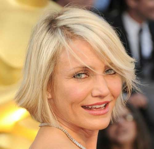 Cameron Diaz Haircut: Bobs, Face Plus And Hairstyles For Oval Faces On Pinterest