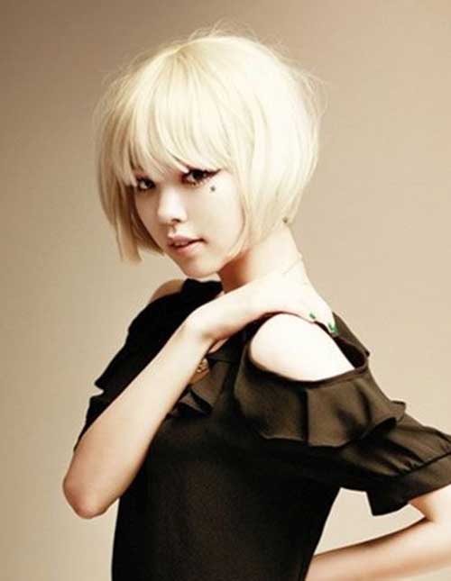 Chinese Blonde Bob Hairstyle