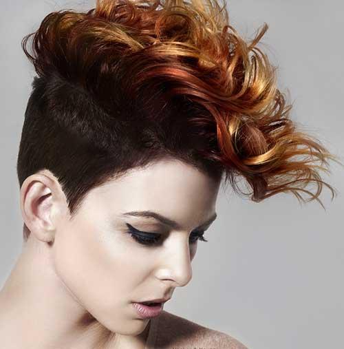 Curly Mohawk for Short Hair Ideas