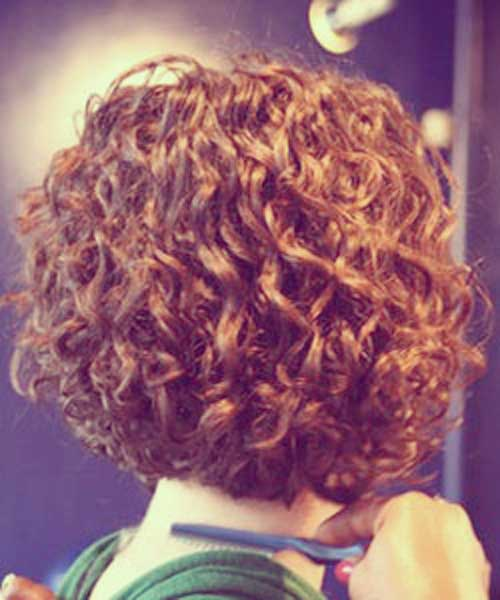 Curly Short Bob Cut for Thick Hair Styles