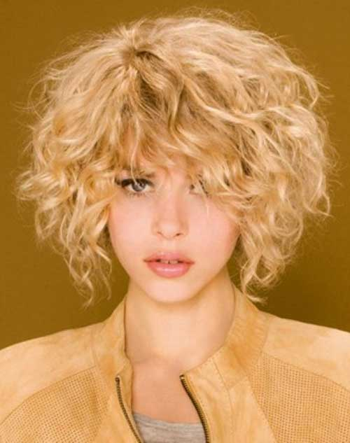 Curly Short Blonde Hairstyles 2015