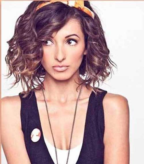 Curly Thick Short Hairstyles Headband 2015