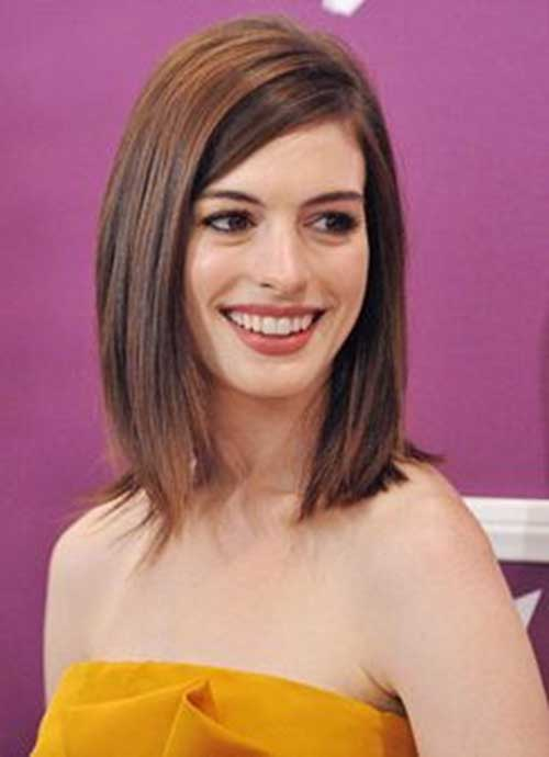 Cute Brown Short Straight Medium Haircuts