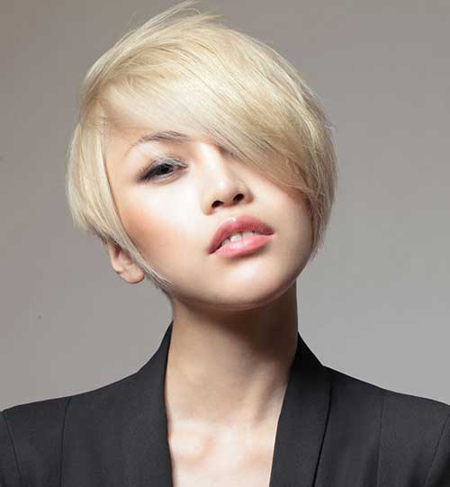 Cute Long Blonde Pixie Hairstyles for Round Faces