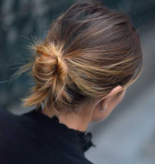 Cute Low Bun Hairstyles for Short Hair
