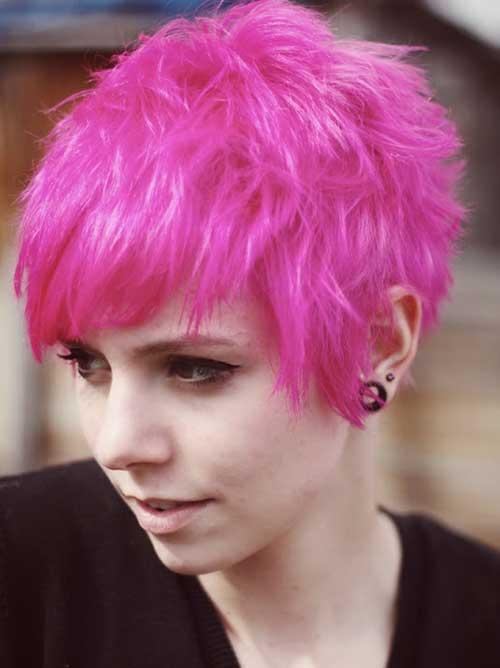 Cute Pink Pixie Hair Cut