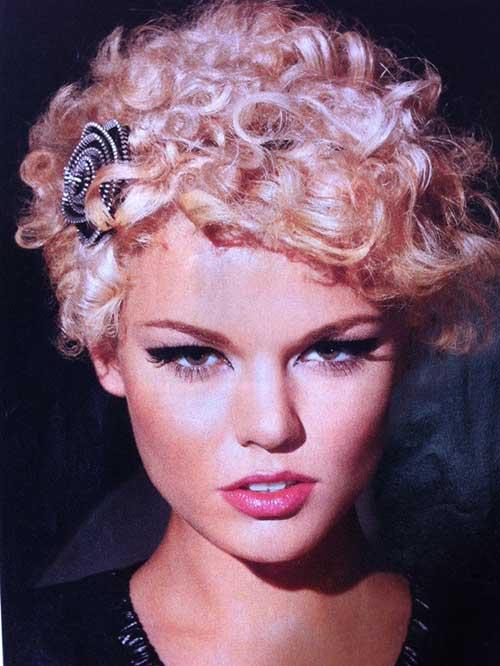Cute Pixie Hair with Curly Bangs 2015