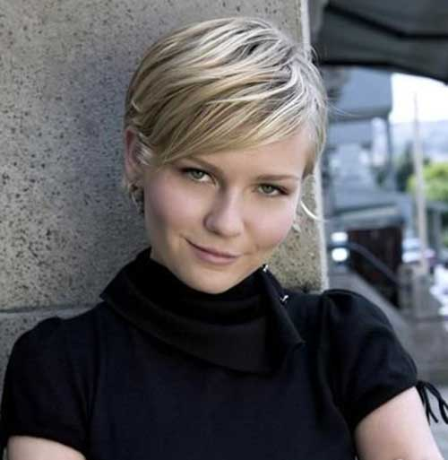 Cute Pixie Short Hairstyles for Round Faces