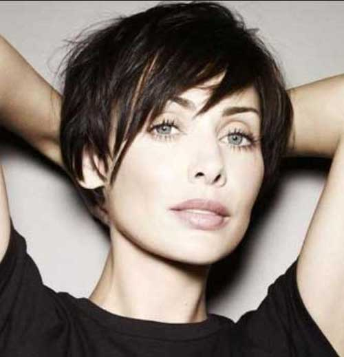 Cute Short Spiky Straight Pixie Hairstyles