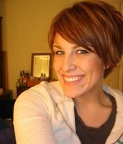 Cute Short Straight Brown Hairstyles