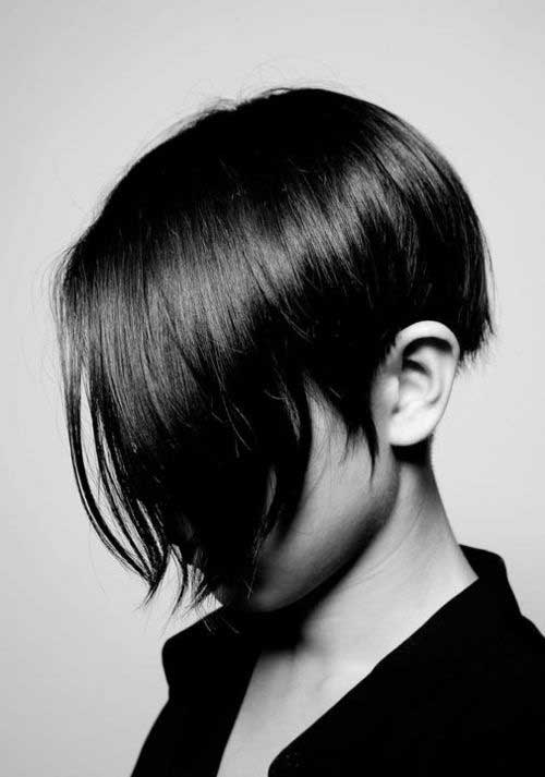 Cute Short Straight Dark Hairstyles