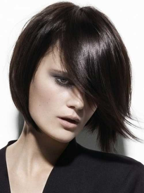 Dark Straight Short Hairstyles for 2014-2015