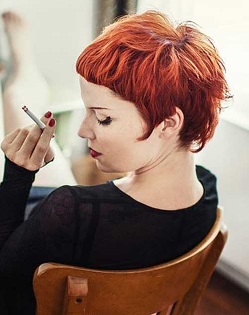Ginger Pixie Cuts with Short Bangs