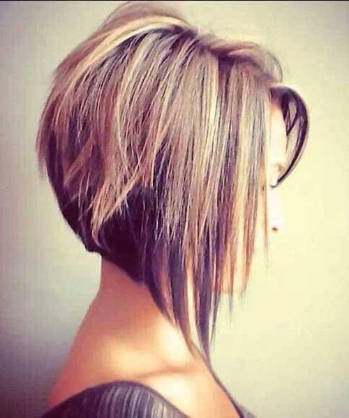 Hair Highlights for Angled Bob Hair