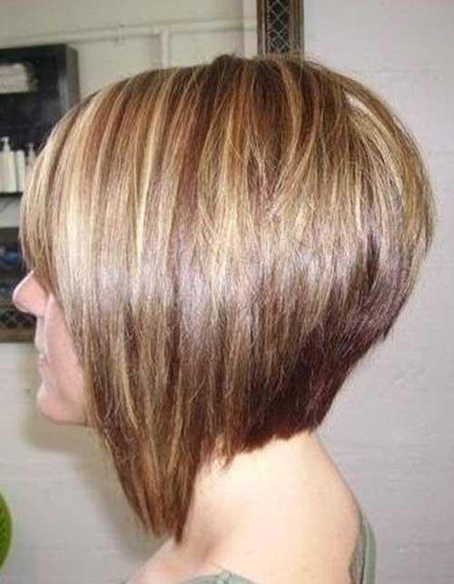 Hair Highlights for Inverted Short Bob Haircuts