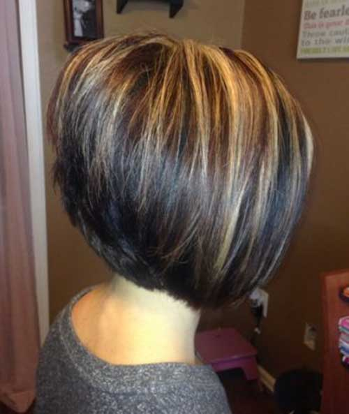 Highlight ideas for very short hair highlights for short hair highlight ideas for very short hair angled bob with highlights long hairstyles urmus Images