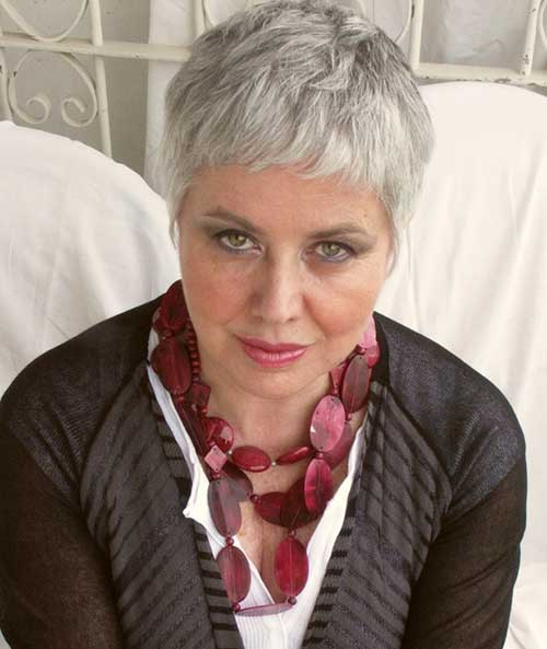 Hairstyles for Short Gray Pixie Hair