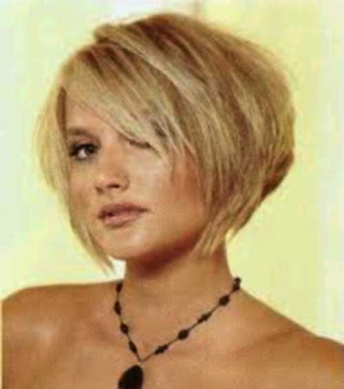 Inverted Short Bob Hair with Side Bangs